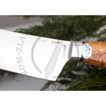 Поварской-3. Набор из 3 ножей. Рукоять карельская береза. Сталь 95х18