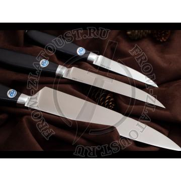 Поварской-3. Набор из 3 ножей. Рукоять текстолит. Сталь 95х18