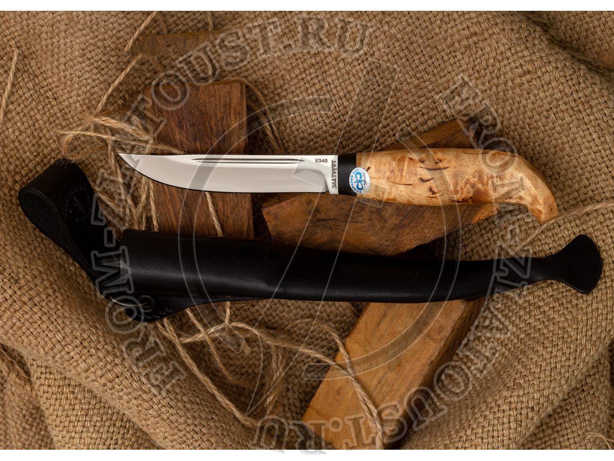 Финка lappi. Рукоять карельская береза. Сталь 95Х18
