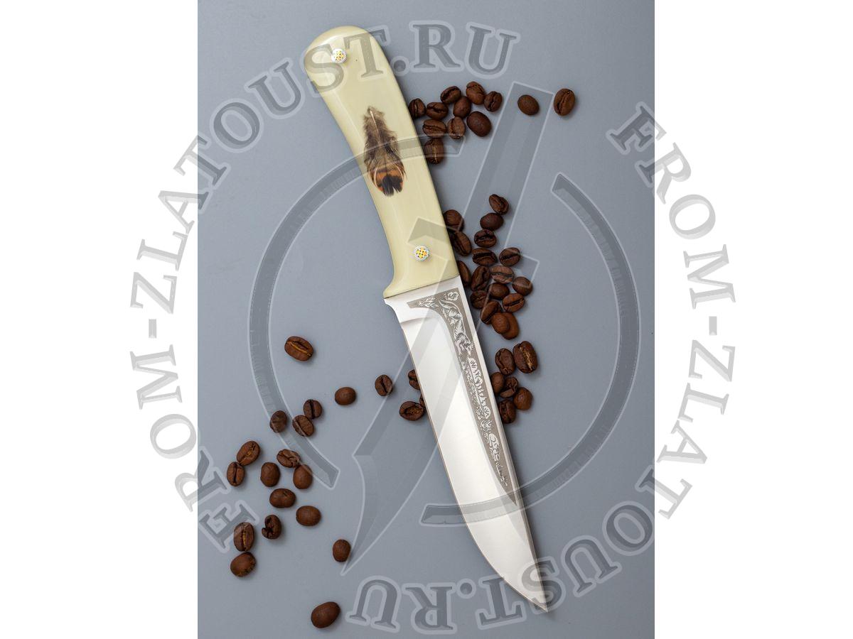 Лиса. Цельнометаллический. Mercorne (перо). Сталь 95Х18