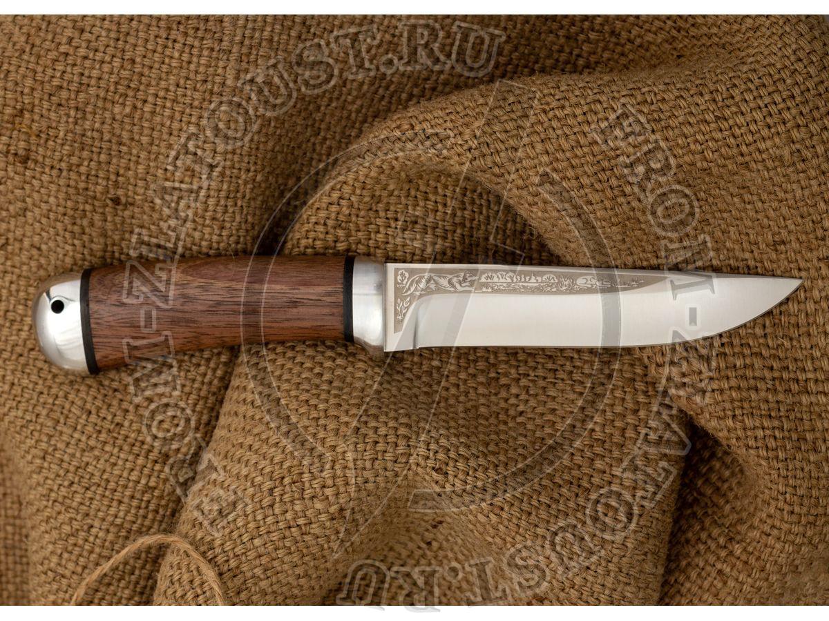 Лиса. Рукоять орех. Алюминий. Сталь 95Х18