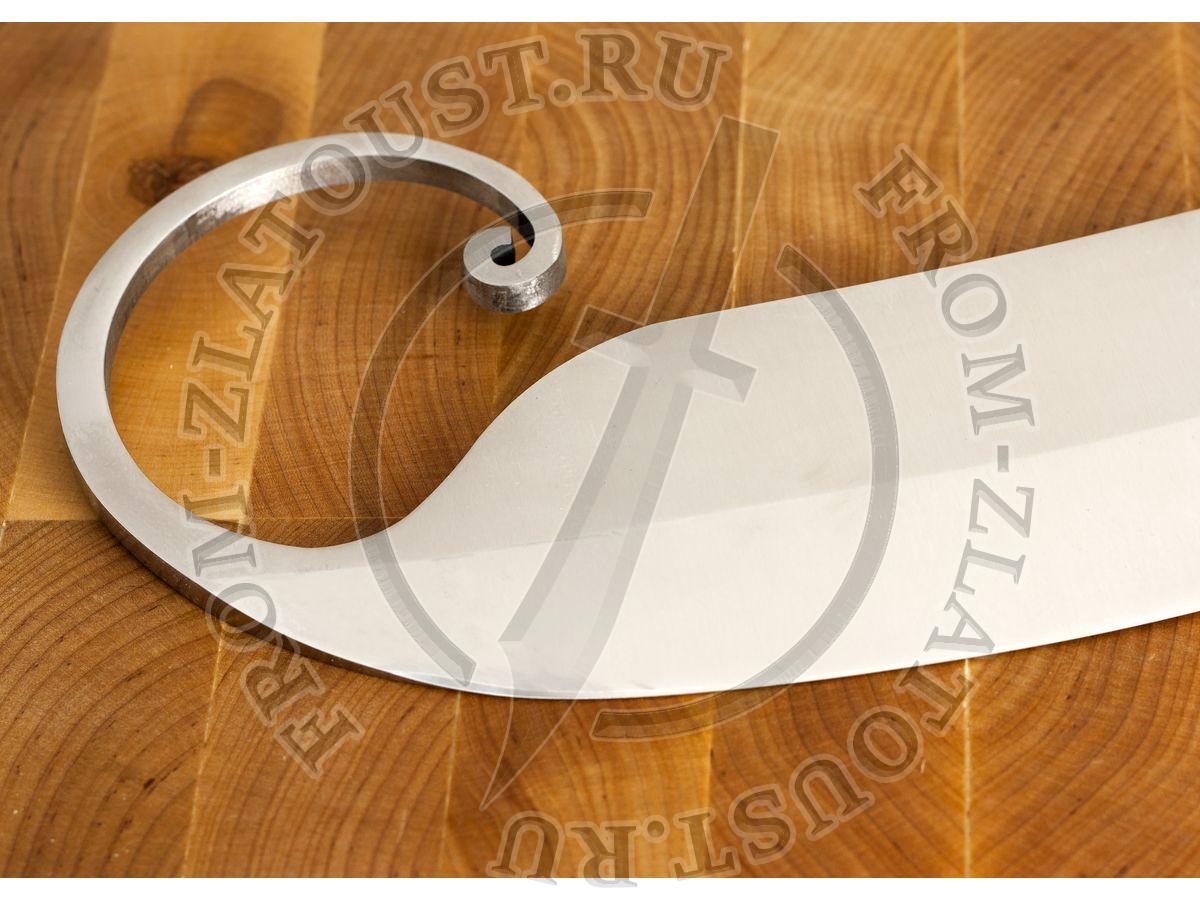 Гиймякеш. (габалинский нож). Рукоять кап ореха. Сталь 110х18м-шд. 1шт.
