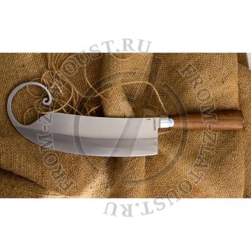 Гиймякеш. (габалинский нож). Рукоять орех. Сталь 65Г. 1шт.