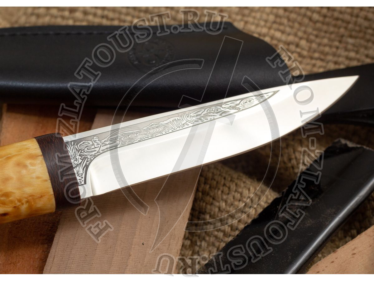 Пескарь. Рукоять карельская береза. Сталь 95Х18