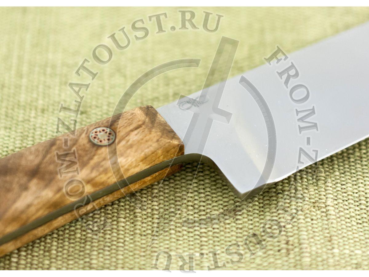 Пчак-Н. Рукоять кап ореха. Цельнометаллический. Мозаичные пины. Сталь 95Х18