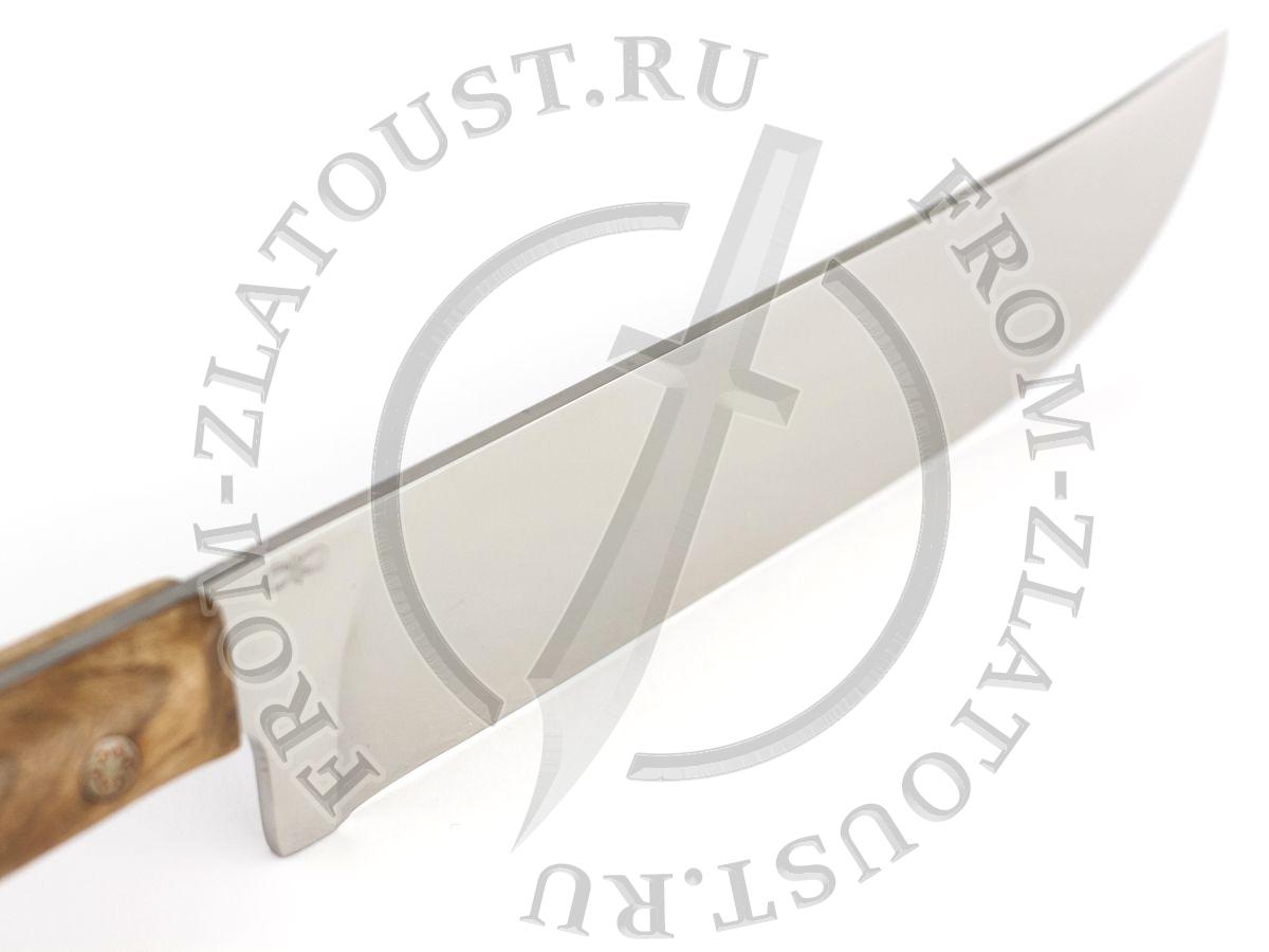 Пчак-Н. Рукоять кап ореха. Цельнометаллический. Мозаичные пины. Сталь Elmax