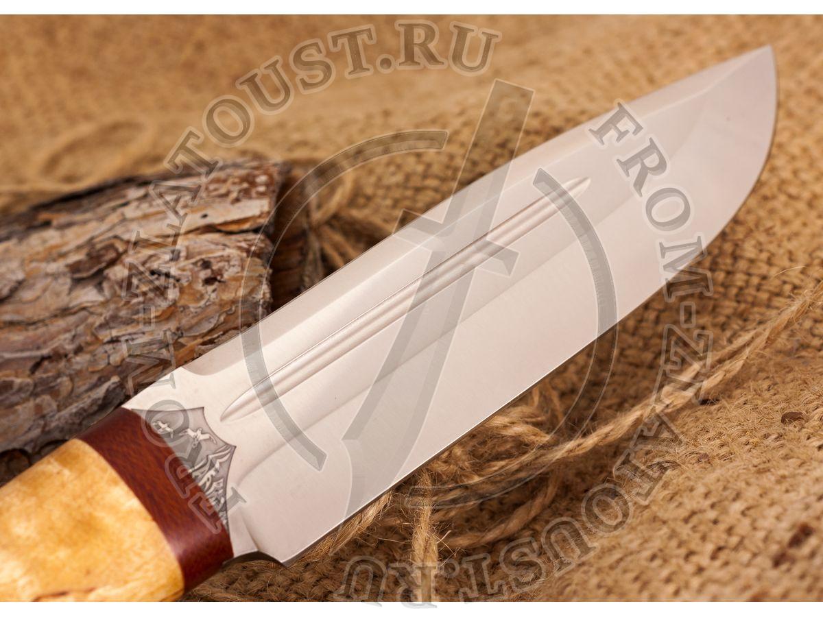 Селигер. Рукоять карельская береза. Сталь 95Х18