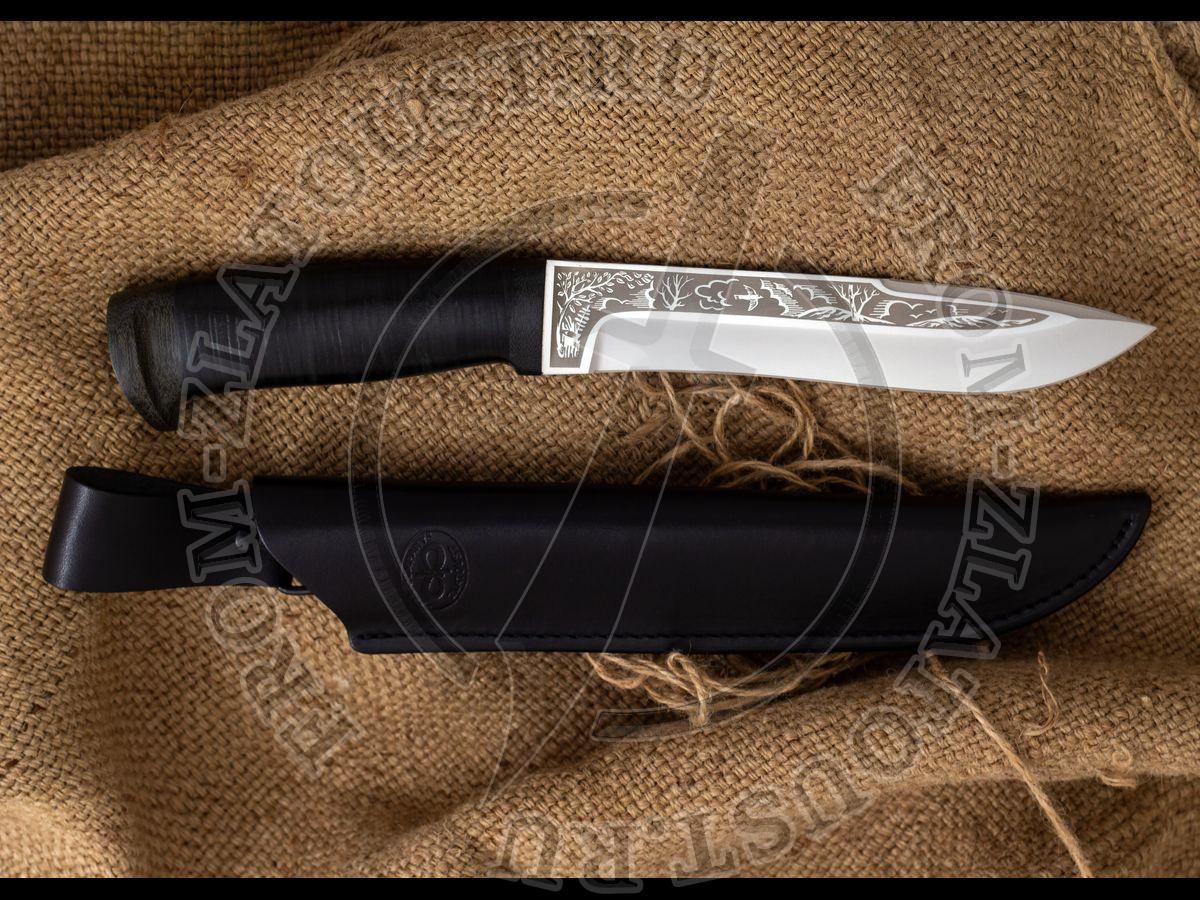 Шаман-1. Рукоять кожа. Сталь 95Х18