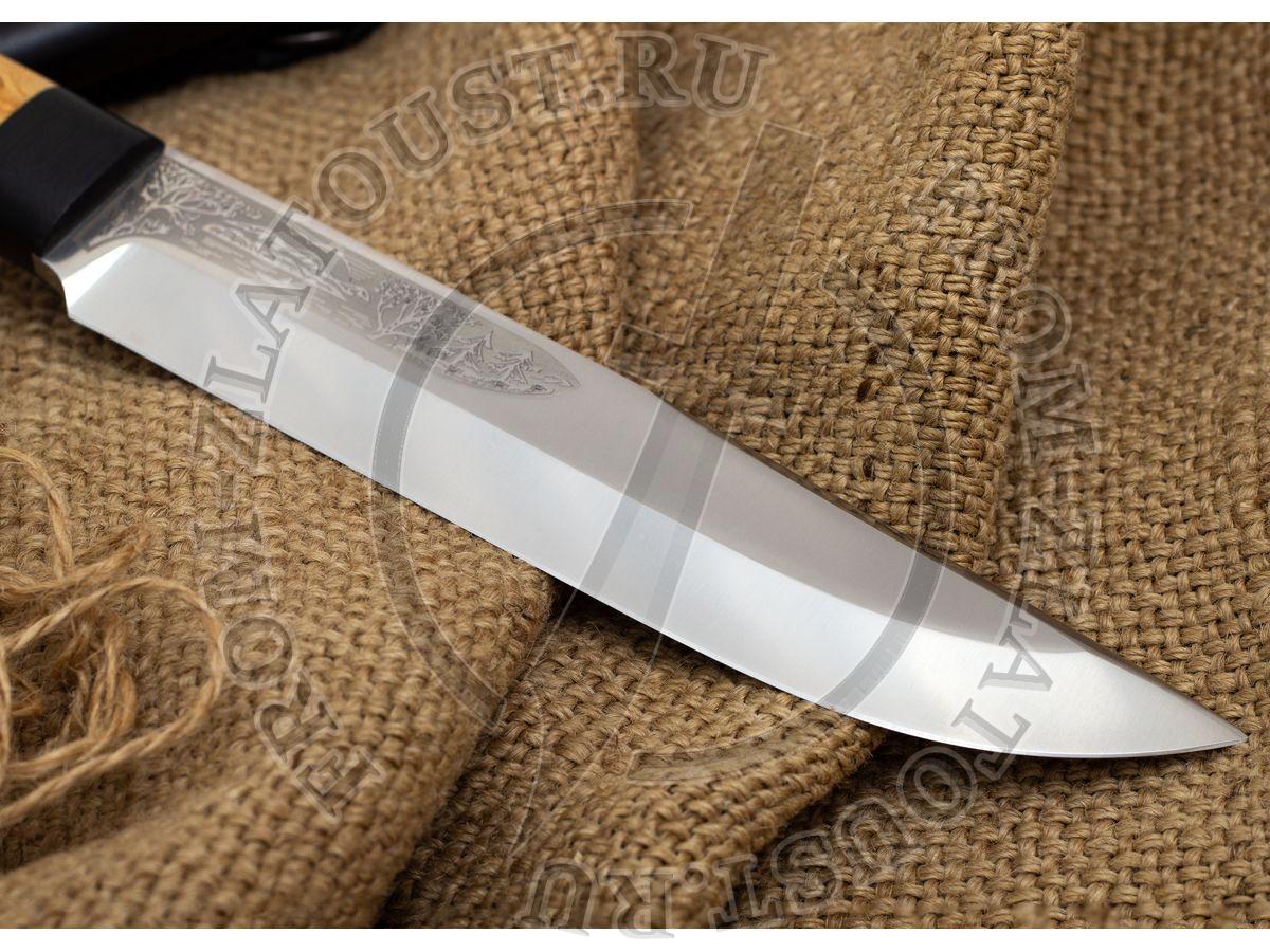 Шашлычный-большой. Рукоять карельская береза. Сталь 95Х18