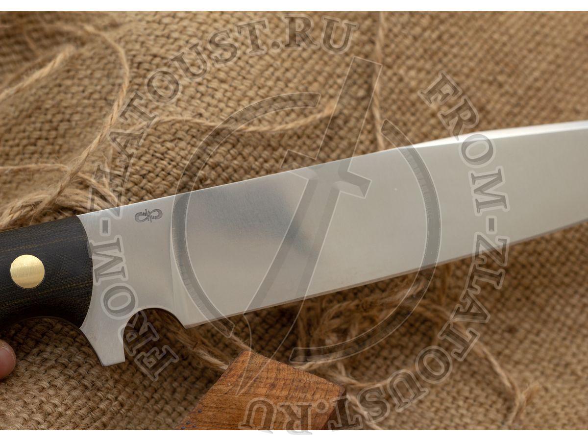 Шериф. Цельнометаллический. Рукоять текстолит. Сталь 110Х18М-ШД