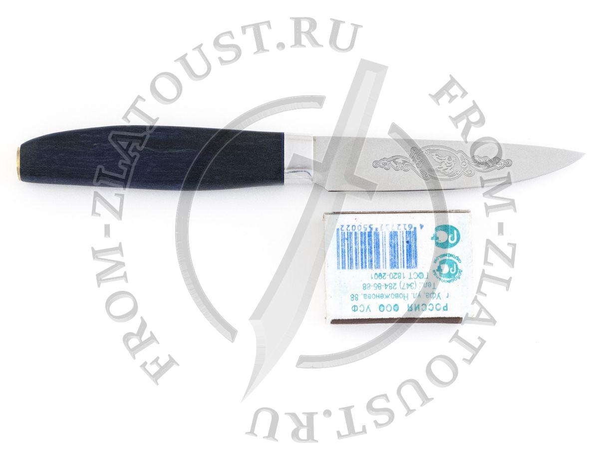 Овощной малый. Стабилизир. карельская береза. Сталь 95Х18. Синий