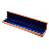 Коробка. Подарочная для ножа. Шпон сапеле, синий бархат