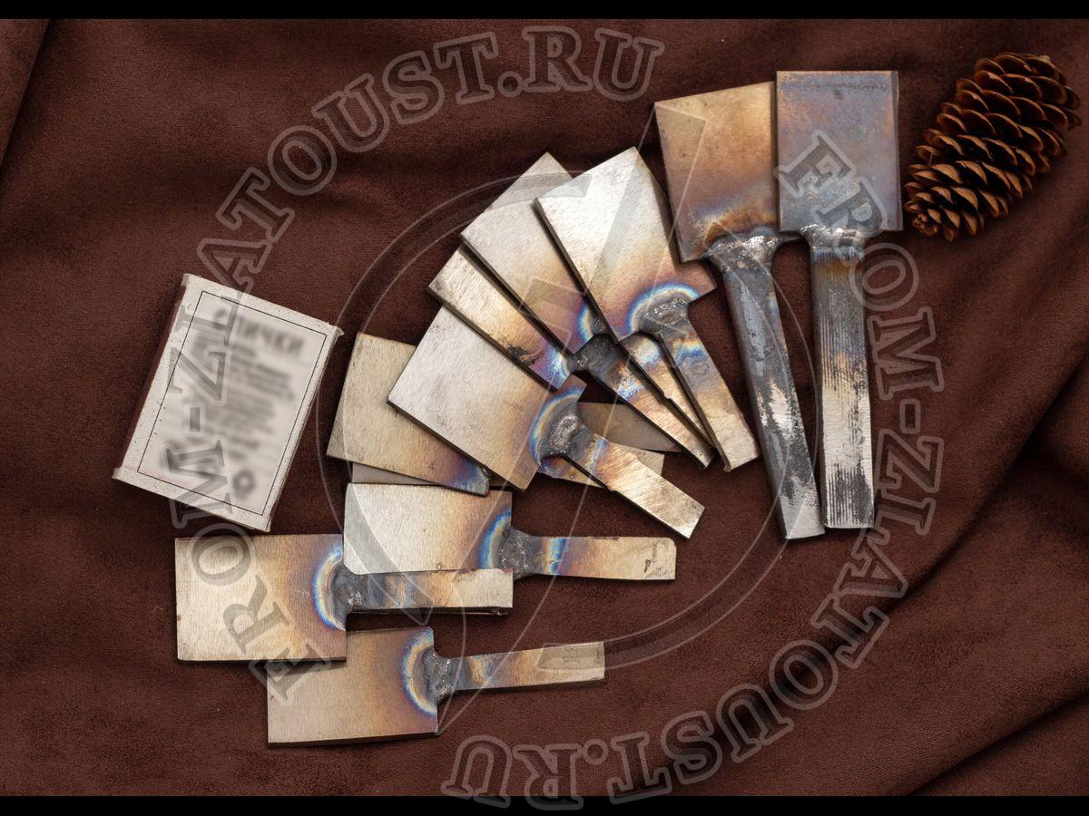 Заготовка кованая для ножа. Сталь 95Х18. 40х30х2,5 мм