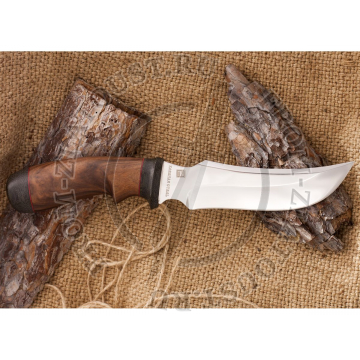 Нож кованый №5. Рукоять орех, микарта. Сталь 110х18м-шд