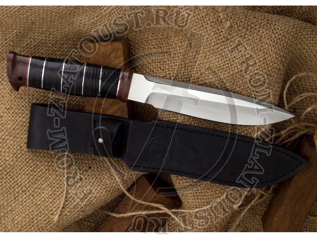 Fox-2. Рукоять кожа с алюминиевыми вставками. Сталь ЭИ-107