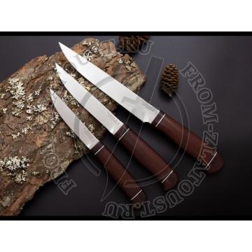 Ножи кухонные набор. Рукоять текстолит. Сталь ЭИ-107. С подставкой