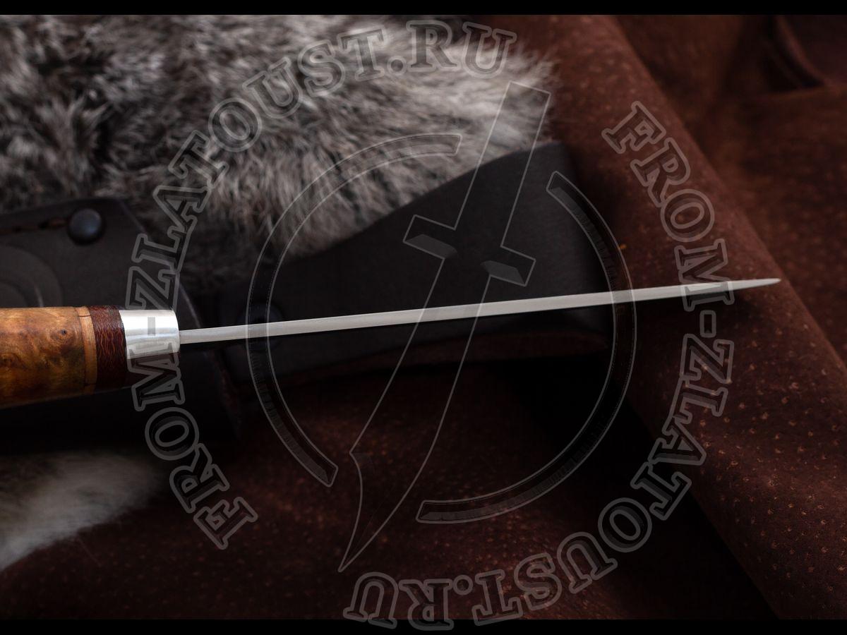 НС-07. Рукоять березовый кап. Алюминий. Сталь ЭИ-107