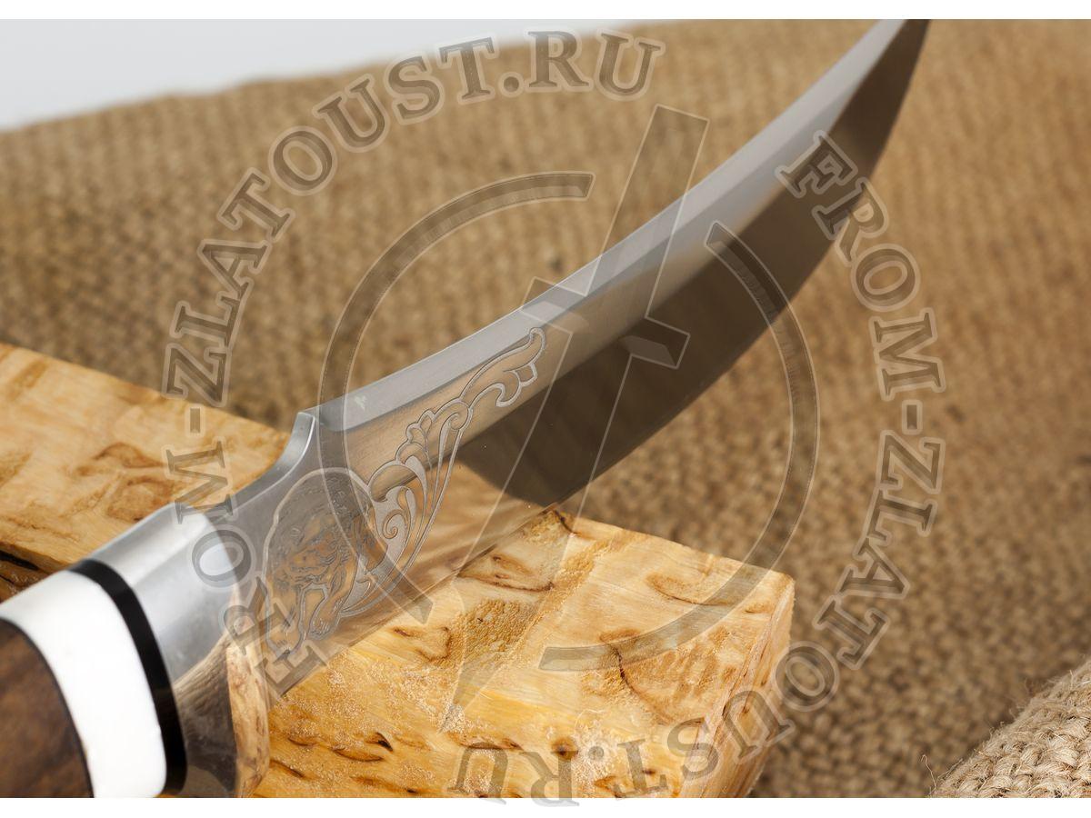 Дракула. Рукоять орех, монтелли. Алюминий. Сталь 95х18