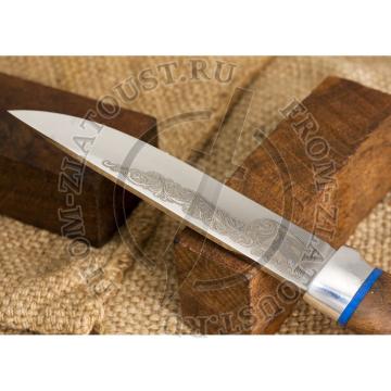 Лесной. Рукоять орех. Алюминий (больстер). Сталь 95х18