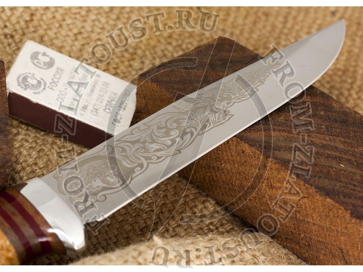 Гвардия. Рукоять комбинированная: карельская береза, текстолит. Алюминий Сталь 95х18