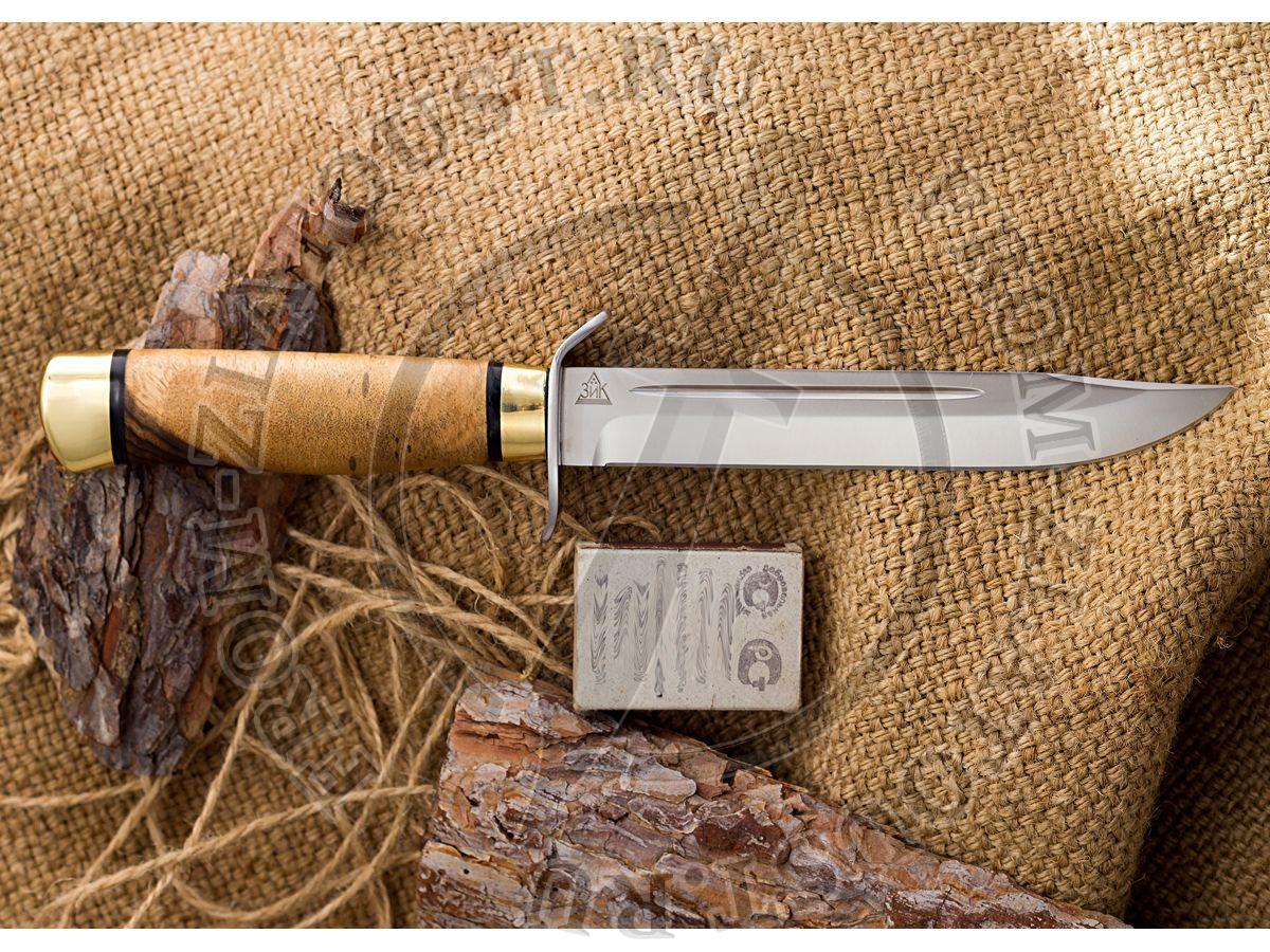 Нож разведчика. Рукоять орех. Латунь. Сталь 95х18