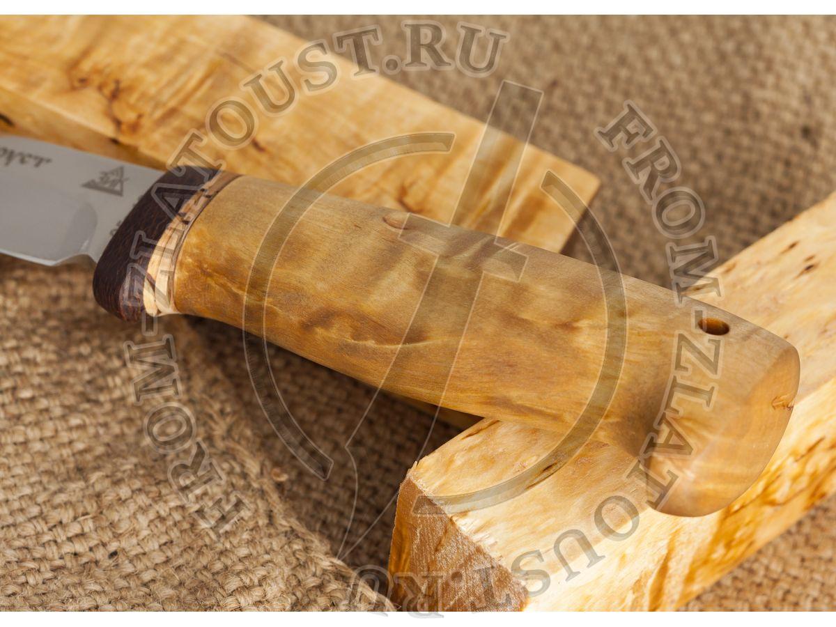 Випер. Рукоять карельская береза. Сталь 95х18