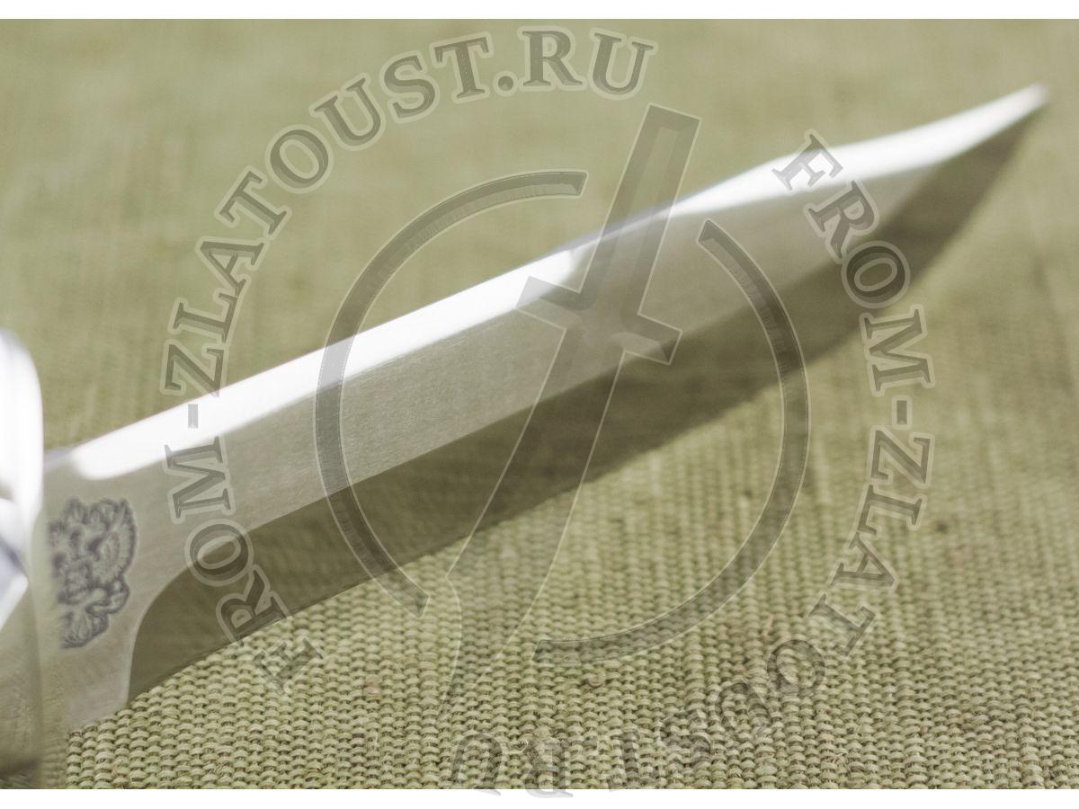 Дальнобойщик. Рукоять орех с полимерным покрытием. Герб России. Сталь ЭИ-515