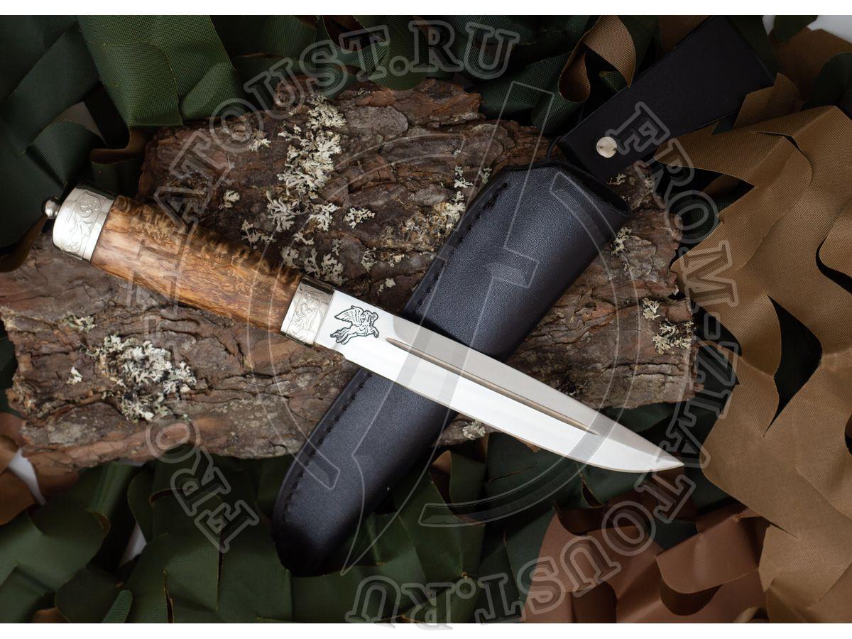 Казарка. Рукоять карельская береза. Сталь ЭИ-515