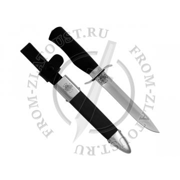Офицерский. Рукоять и ножны дерево с полимерным покрытием. Сталь ЭИ-515