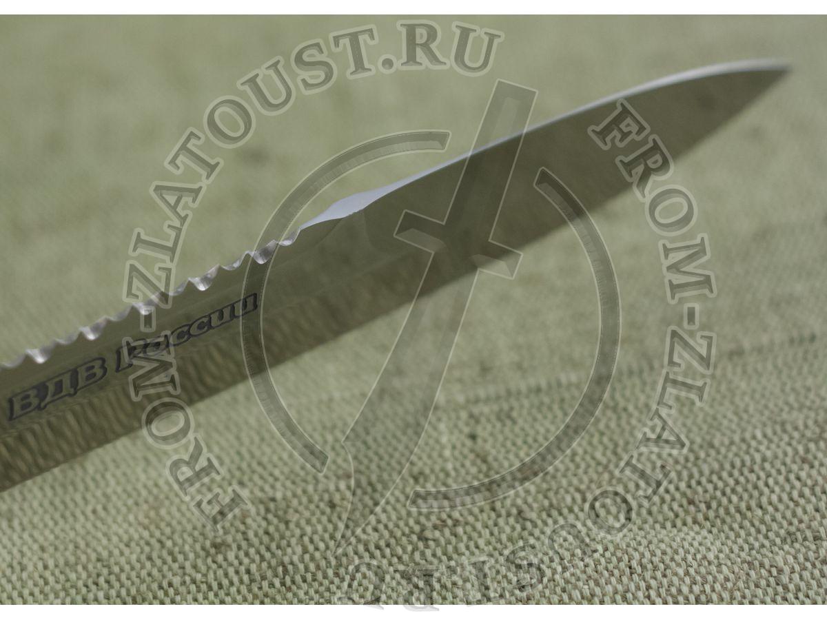 Десантник. ВДВ России. Рукоять дерево с полимерным покрытием. Сталь ЭИ-515