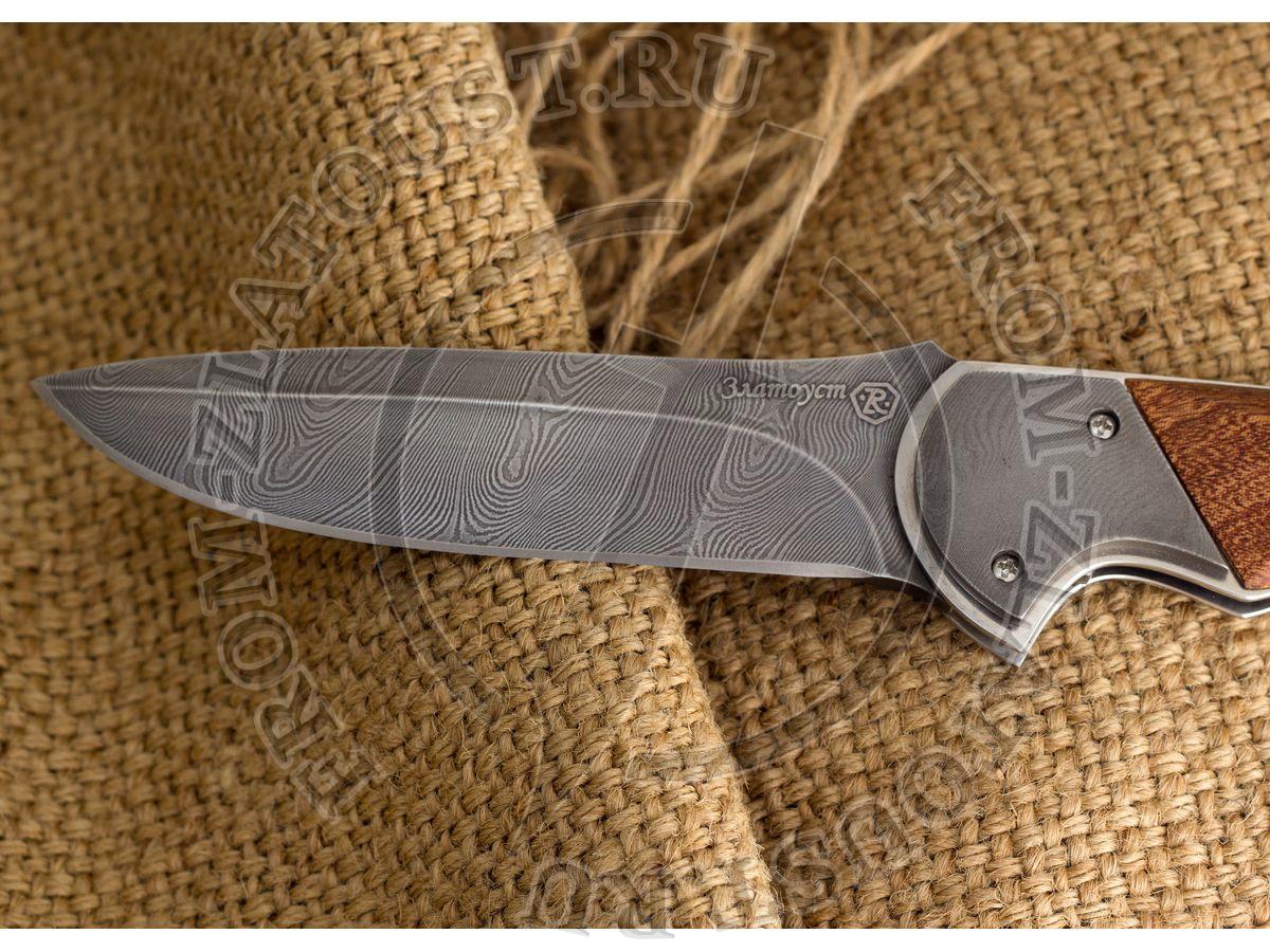 Рысь. Рукоять орех с элементами из дамаска. Дамаск
