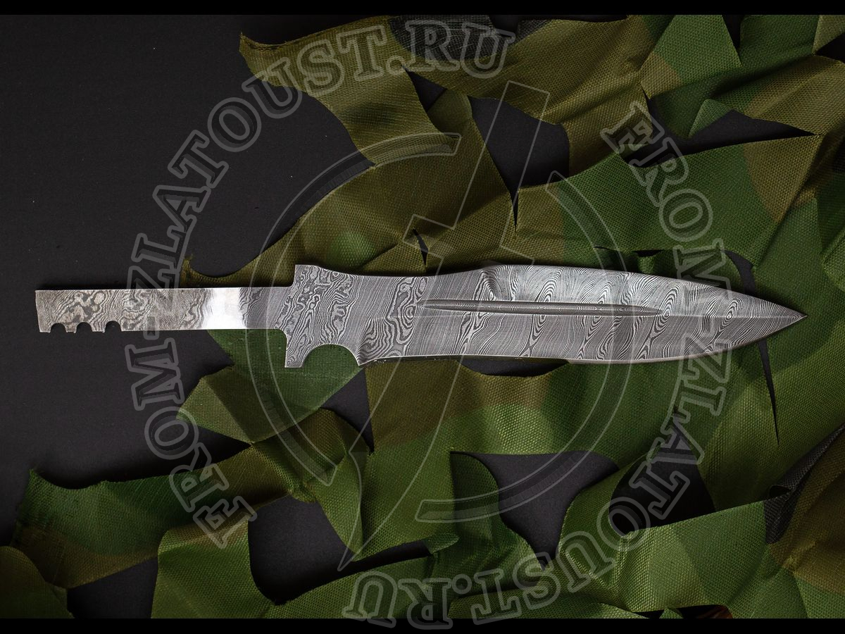 """Клинок """"Н21"""". Дамаск нерж. 40Х13-Х12М1Ф"""