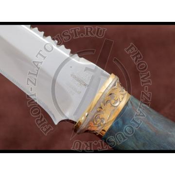 Н69. Подарочный. Рукоять стабилизированная карельская береза. Золочение